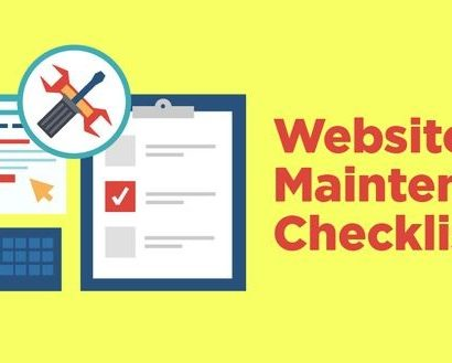 Recommended Website Maintenance Checklist