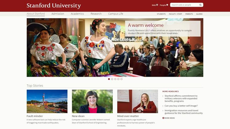 Modern Web Layout for College & University Websites